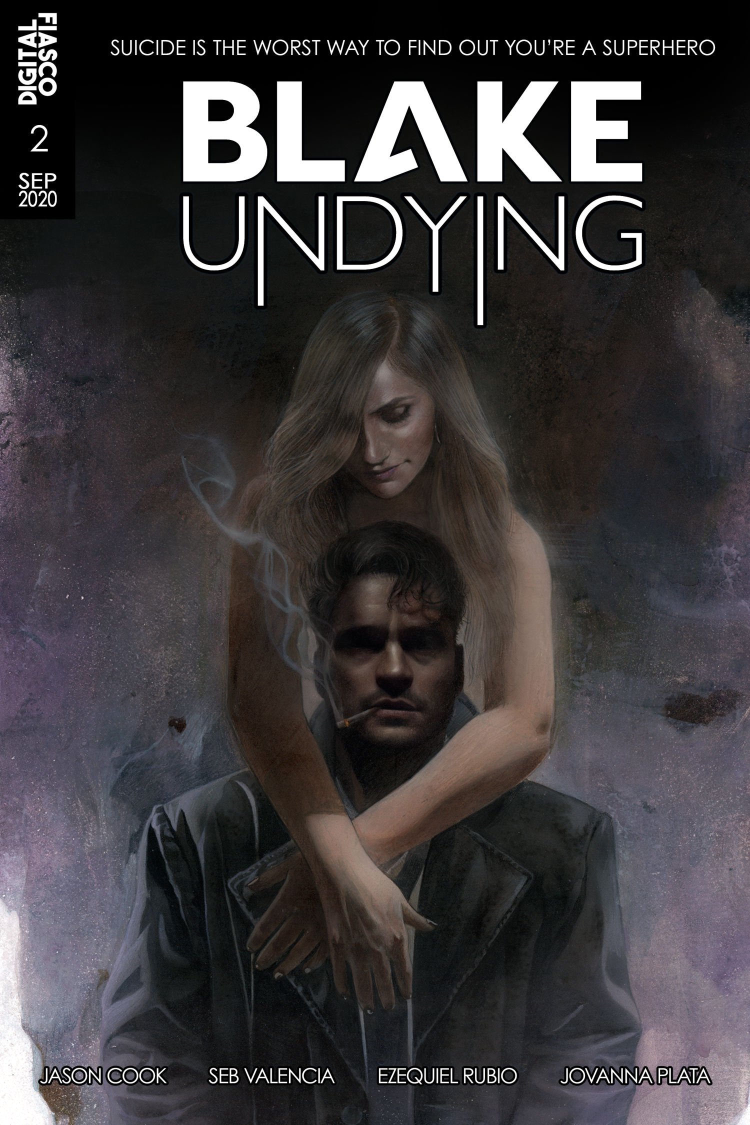 Blake Undying #2- Circles - Cover By Ariel Colon