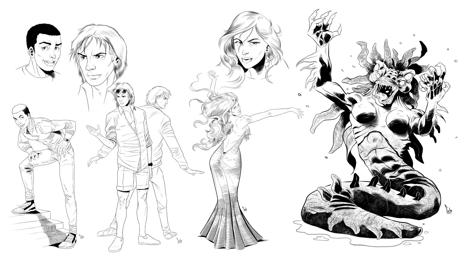 Characters Inks - Small